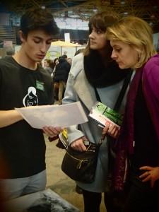 Loïc sharing the project