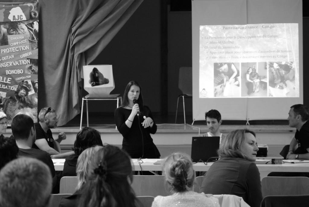 Amandine Renaud explique l'urgence de la cause des grands singes
