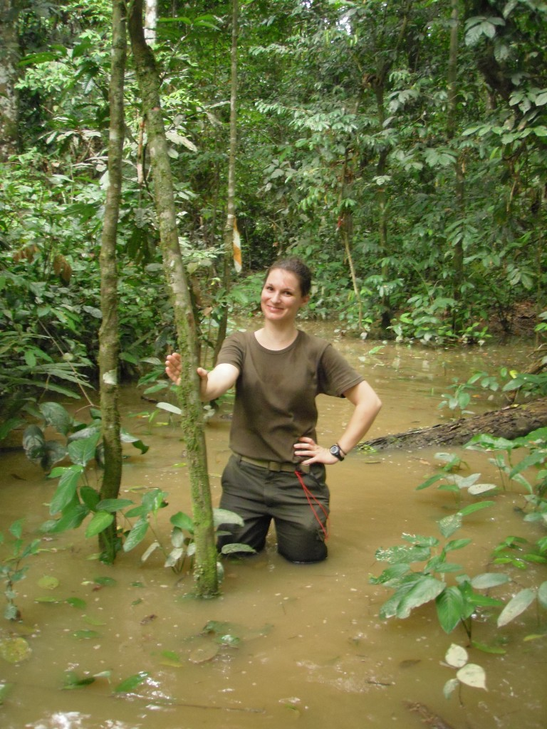Amandine Renaud Primatologue au Congo
