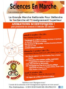 Sciences en marche