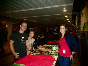 Amandine and visitors...who heard about us thanks to our partner CRI PRIMATE!!!