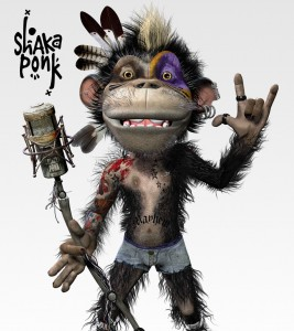 Goz virtual ape mascot of Shaka Ponk